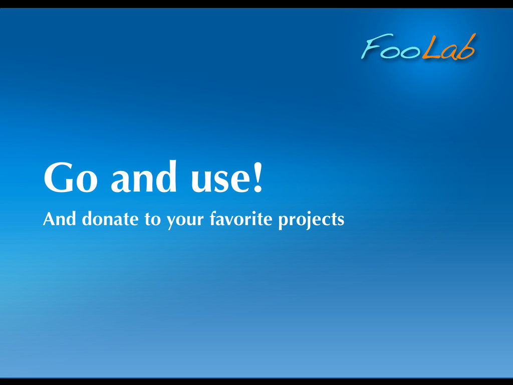 FooLab Go and use! And donate to your favorite ...