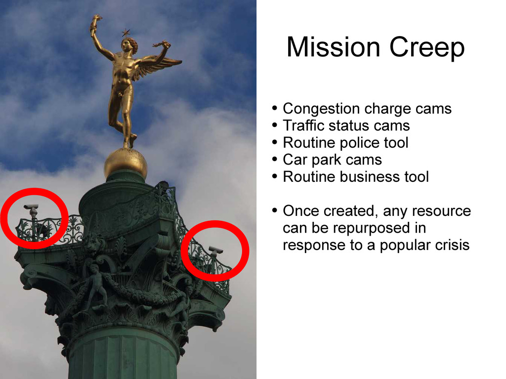 Mission Creep ● Congestion charge cams ● Traffi...