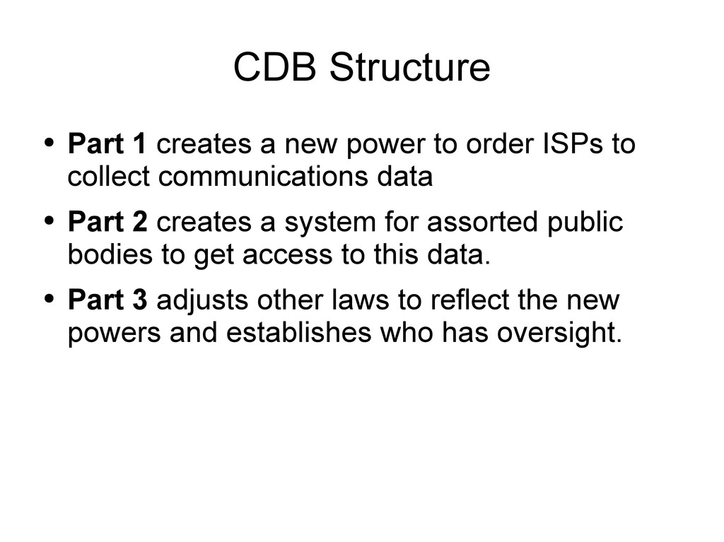 CDB Structure ● Part 1 creates a new power to o...