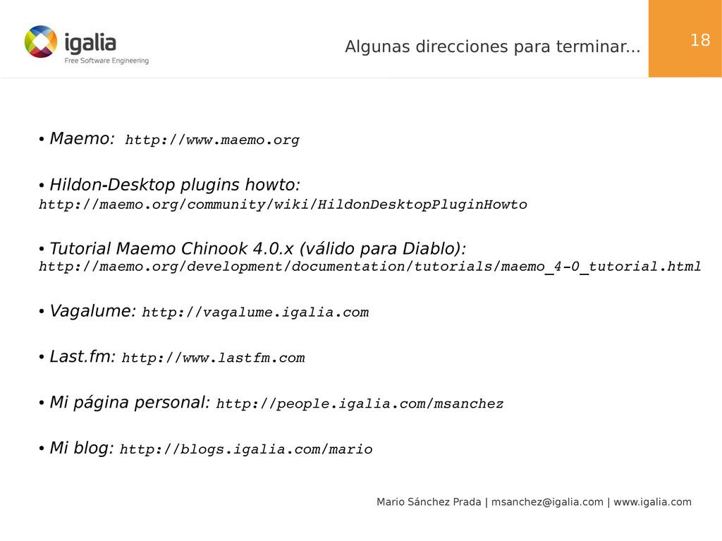 18 Mario Sánchez Prada | msanchez@igalia.com | ...