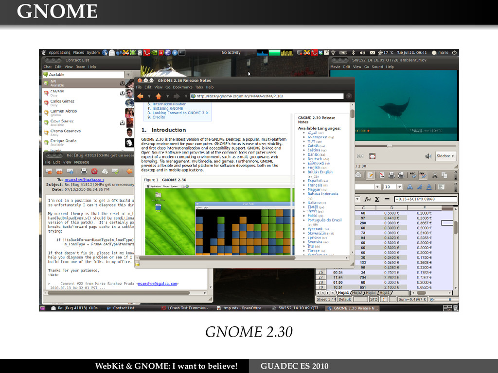 GNOME GNOME 2.30 WebKit & GNOME: I want to beli...