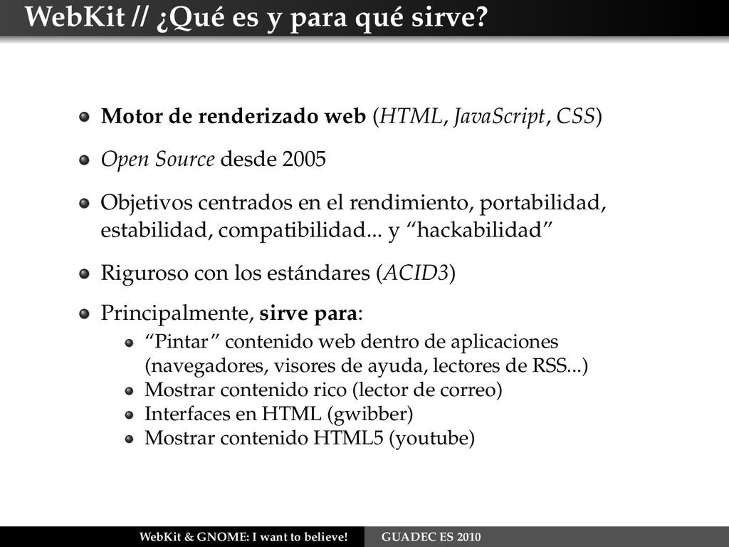 WebKit // ¿Qué es y para qué sirve? Motor de re...