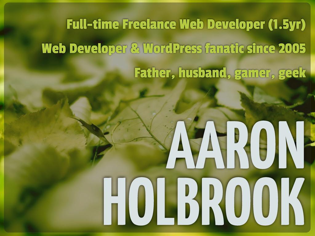 Full-time Freelance Web Developer (1.5yr) Web D...