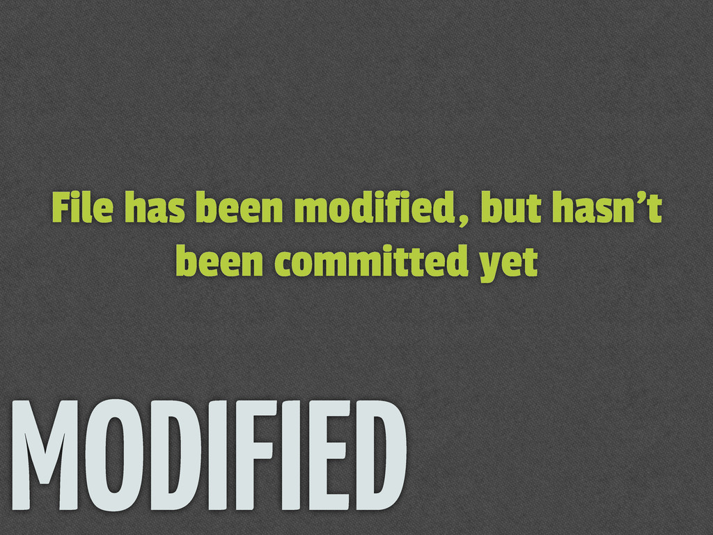 File has been modified, but hasn't been committ...