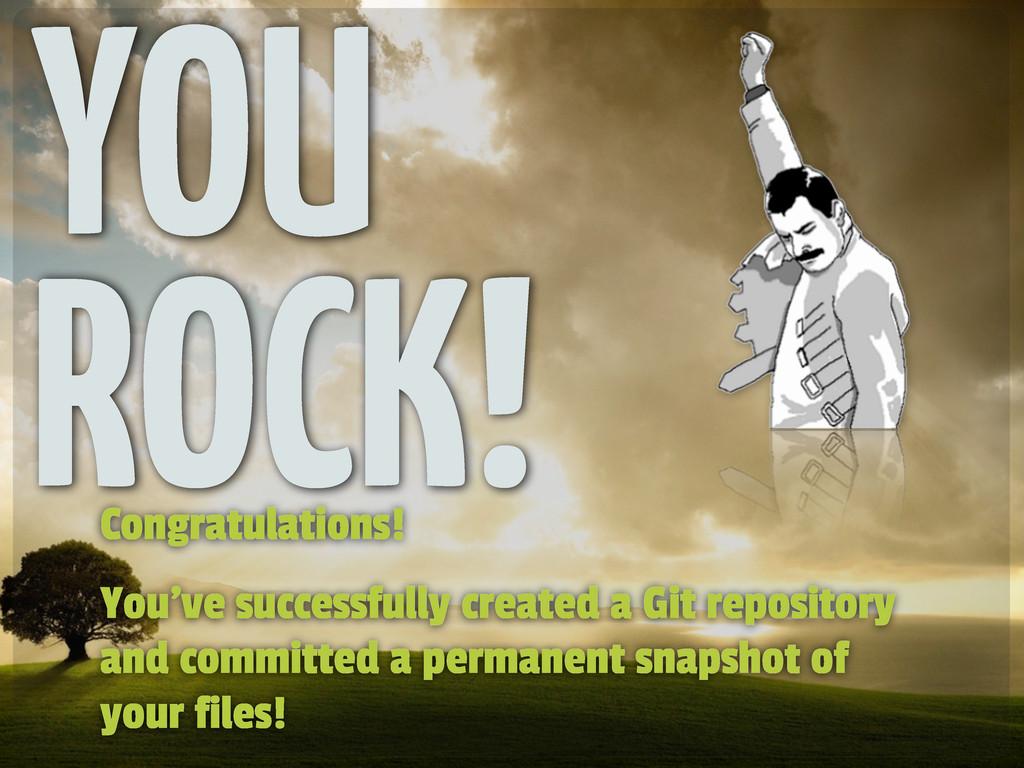 Congratulations! You've successfully created a ...