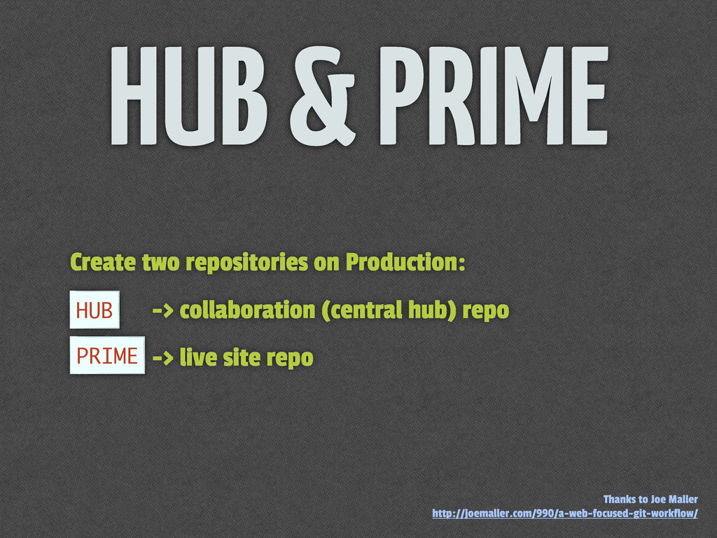 Create two repositories on Production: -> colla...