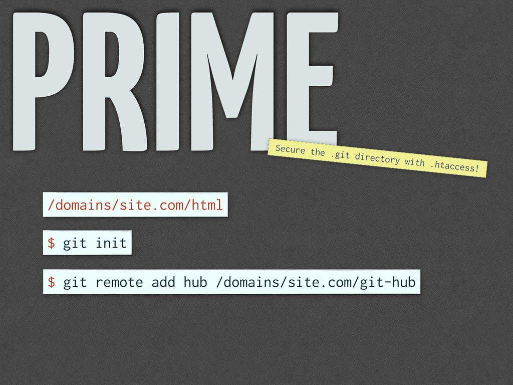 /domains/site.com/html PRIME $ git init $ git r...