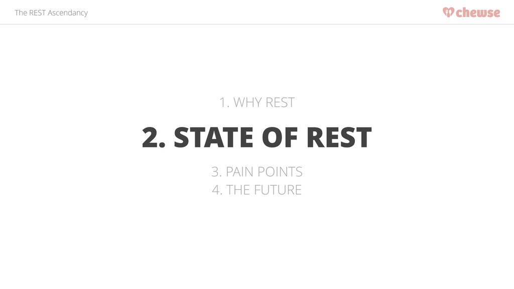 The REST Ascendancy 2. STATE OF REST 1. WHY RES...