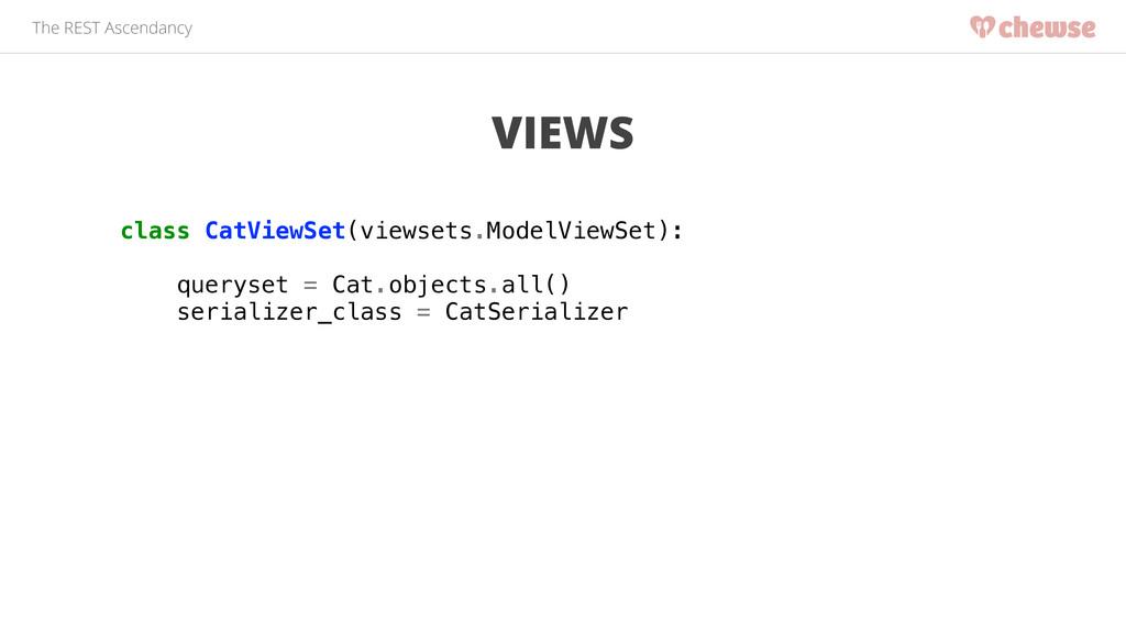 The REST Ascendancy VIEWS class CatViewSet(view...