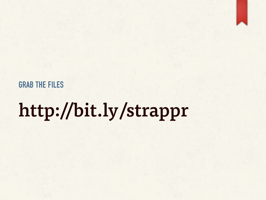 GRAB THE FILES http://bit.ly/strappr