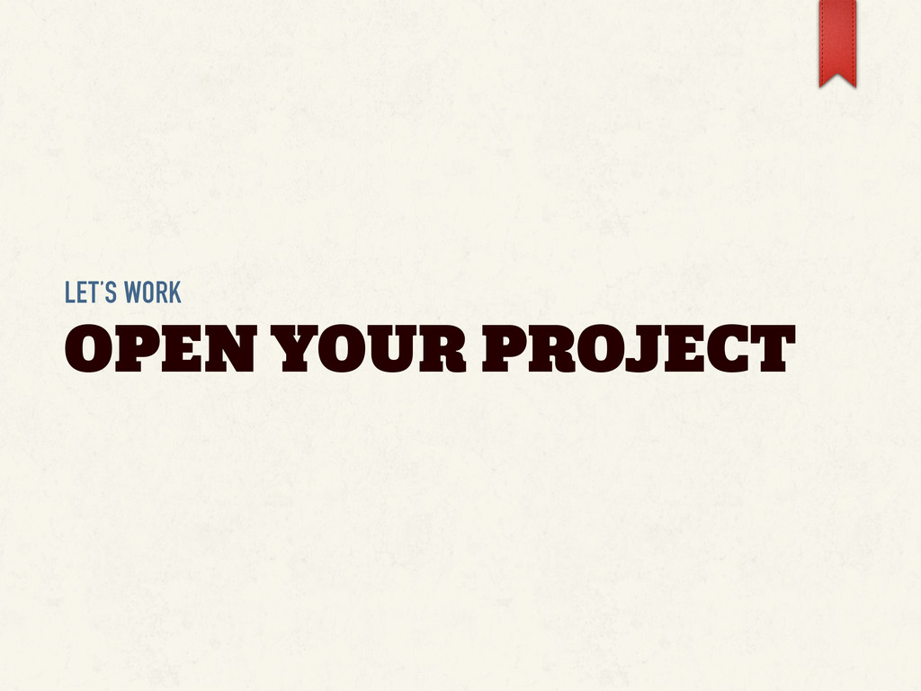 LET'S WORK OPEN YOUR PROJECT