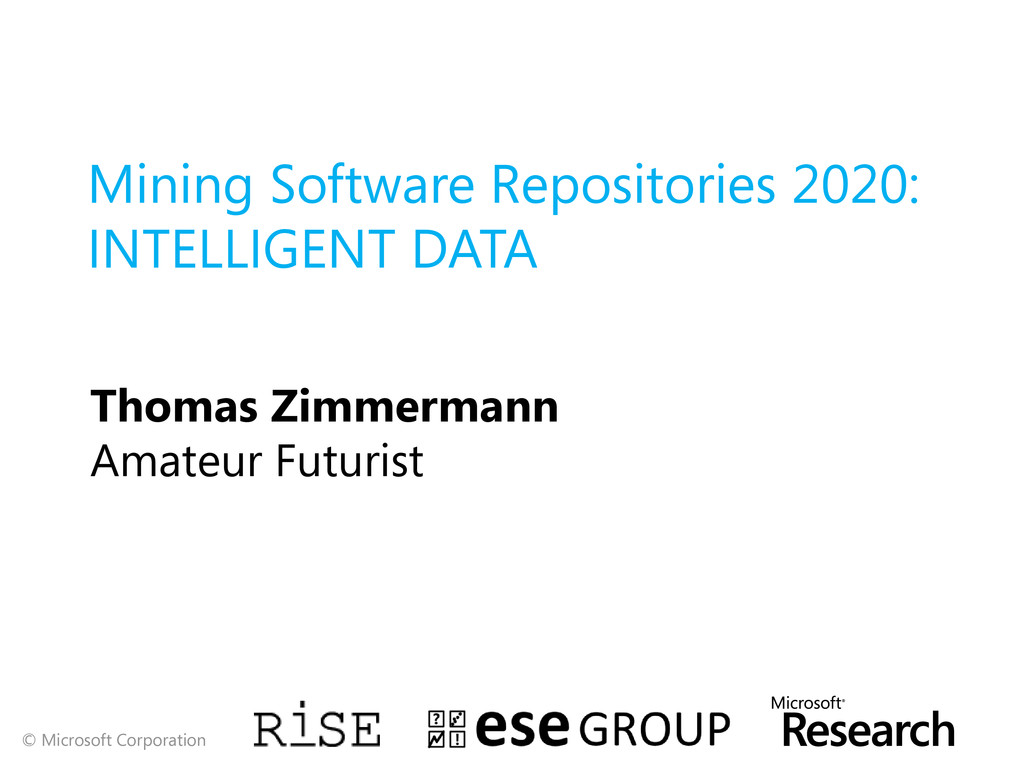 Mining Software Repositories 2020: INTELLIGENT ...