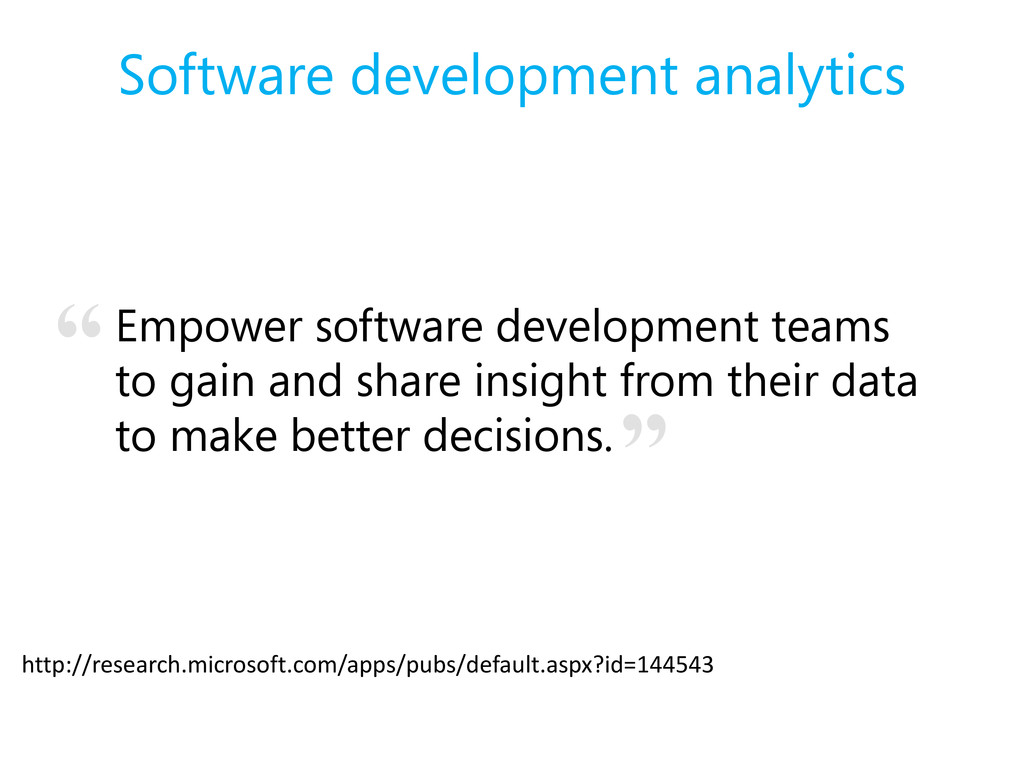 Software development analytics Empower software...