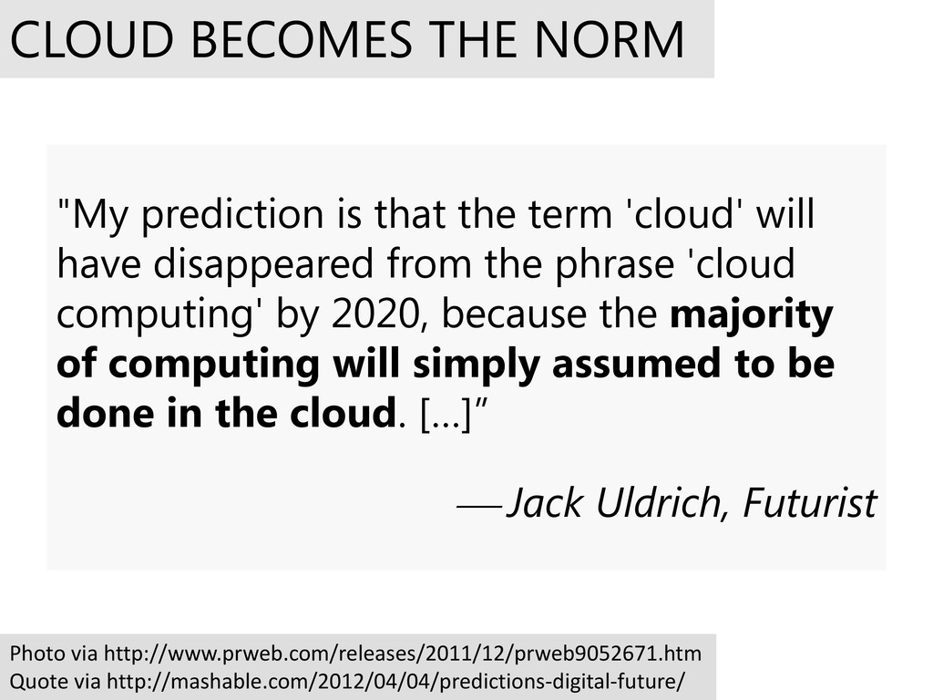 """My prediction is that the term 'cloud' will ha..."