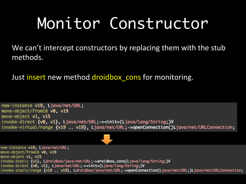 Monitor Constructor We	