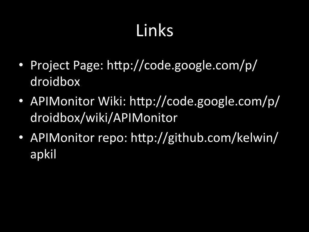 Links •  Project	