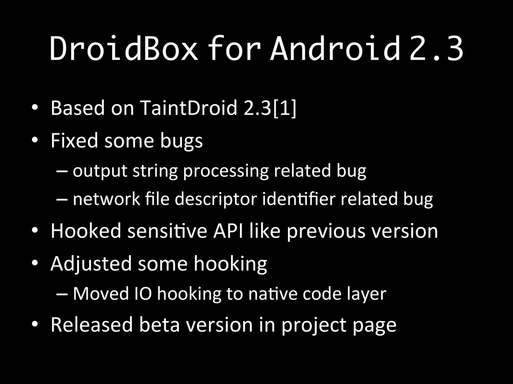 DroidBox	