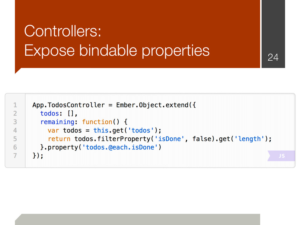 Controllers: Expose bindable properties 24