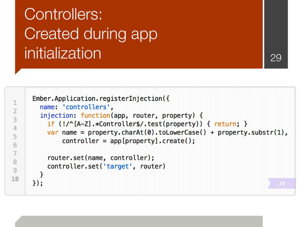 Controllers: Created during app initialization ...