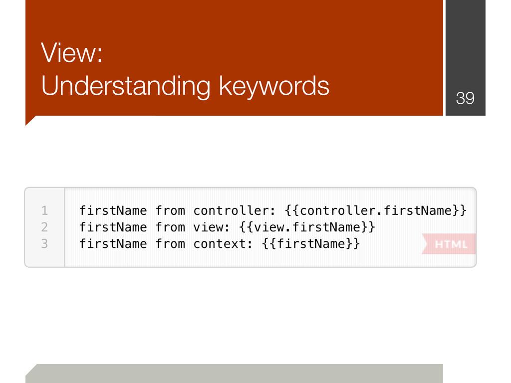 View: Understanding keywords 39