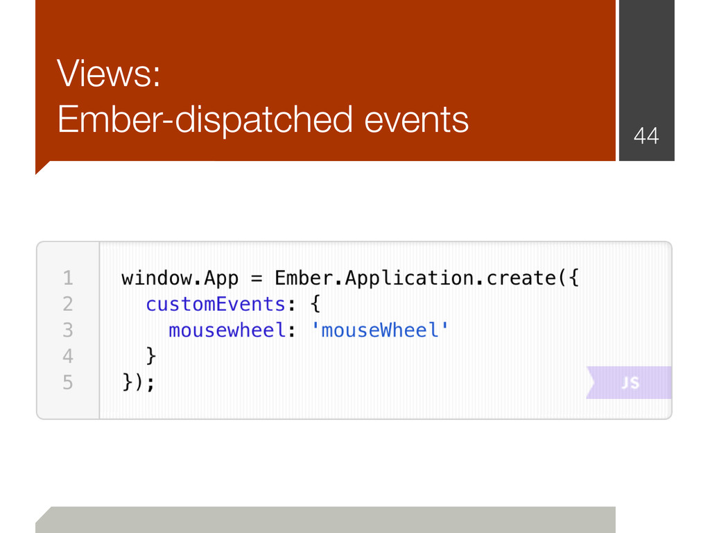 Views: Ember-dispatched events 44
