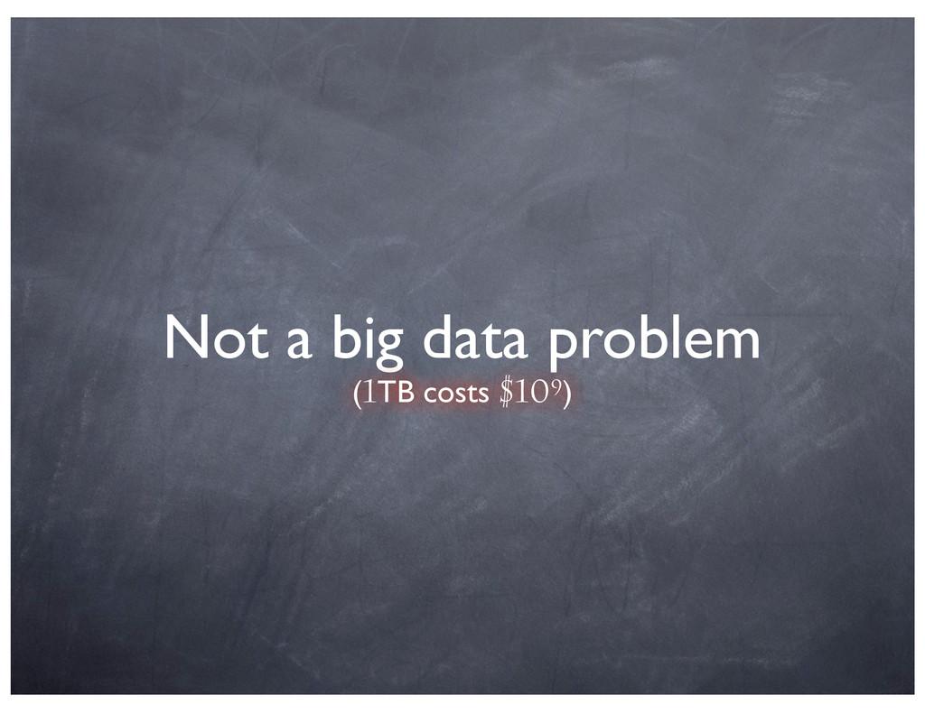 Not a big data problem (1TB costs $109)