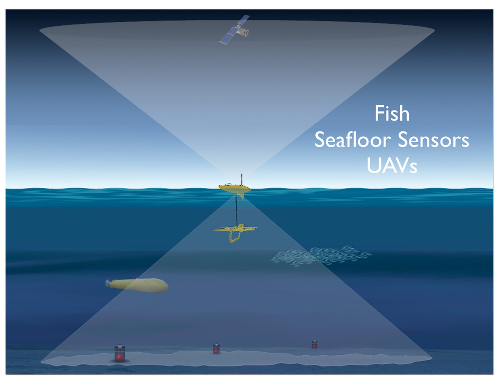 Fish Seafloor Sensors UAVs