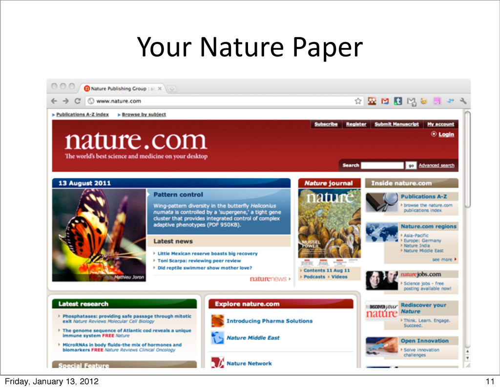 Your Nature Paper 11 Friday, January 13, ...