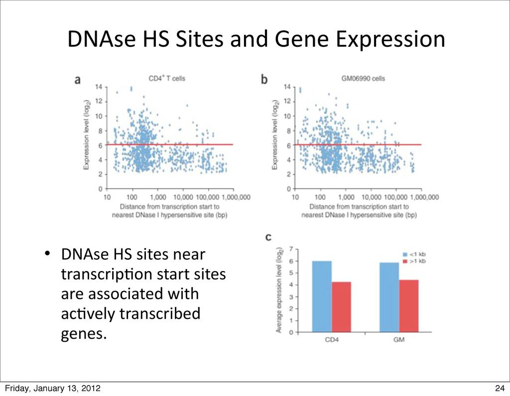 DNAse HS Sites and Gene Expressi...