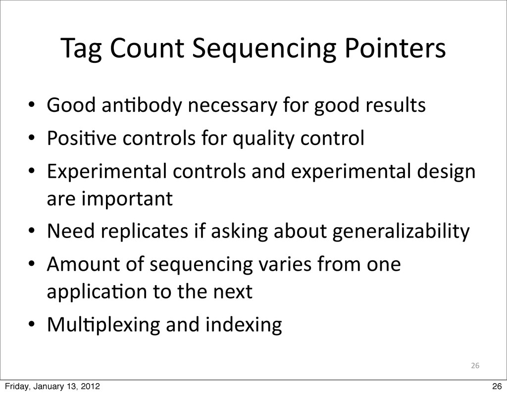 26 Tag Count Sequencing Pointers • Goo...