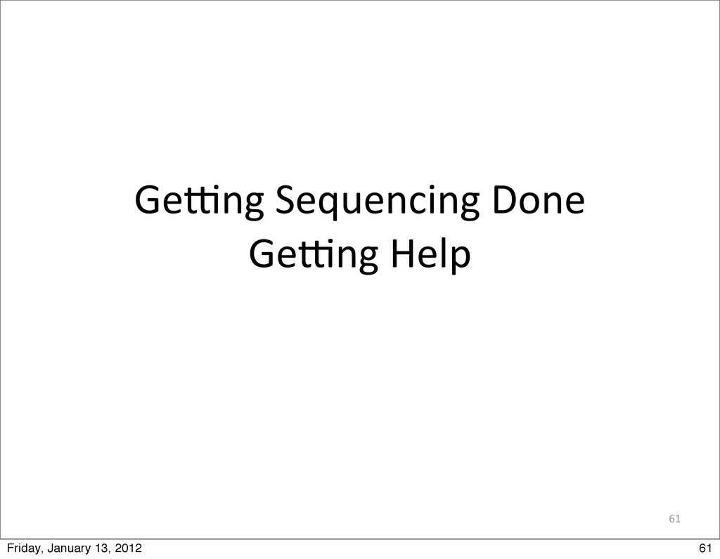 61 Gemng Sequencing Done Gemng Help 61...