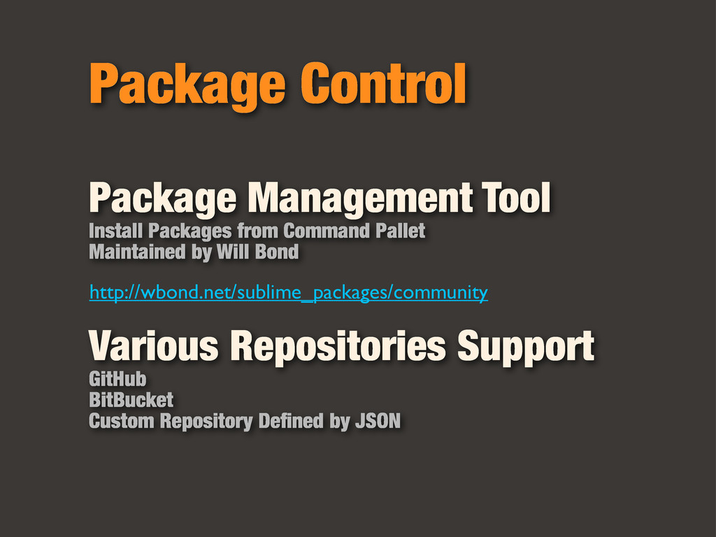 Package Control Package Management Tool Install...