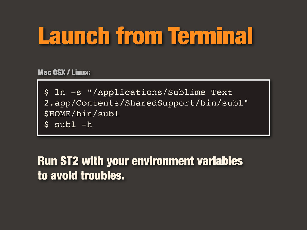 "$ ln -s ""/Applications/Sublime Text 2.app/Conte..."