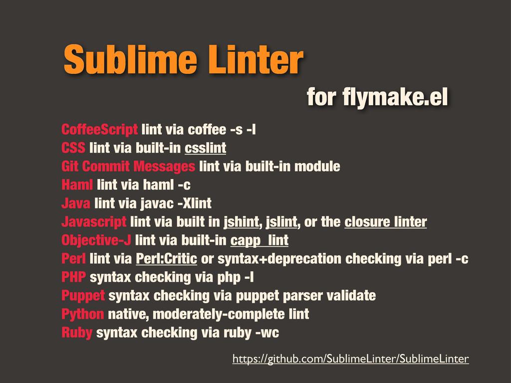 Sublime Linter CoffeeScript lint via coffee -s ...