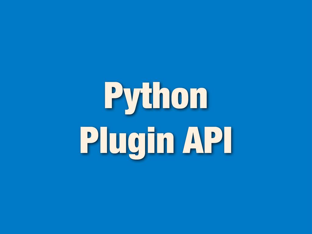 Python Plugin API