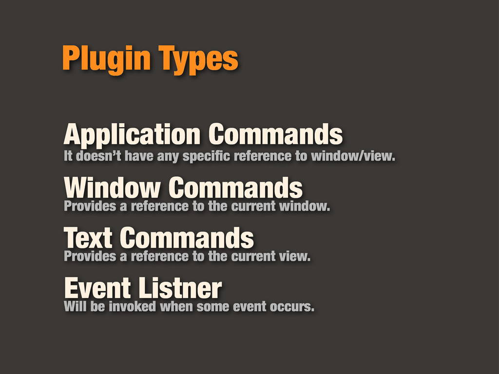 Plugin Types Application Commands It doesn't ha...