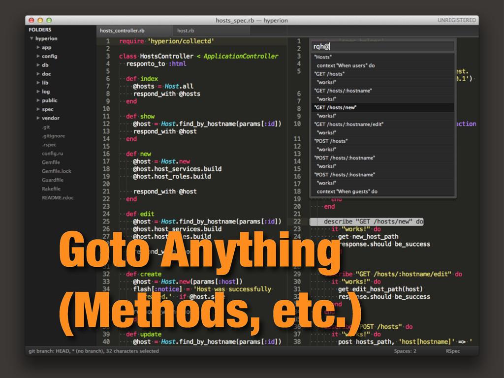 Goto Anything (Methods, etc.)