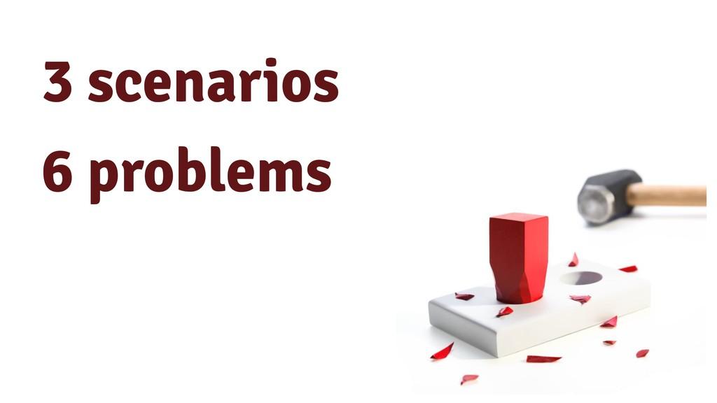 3 scenarios 6 problems