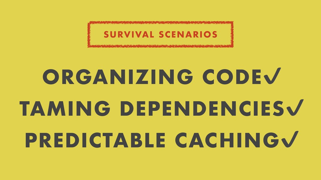 SURVIVAL SCENARIOS ORGANIZING CODE✔ TAMING DEPE...