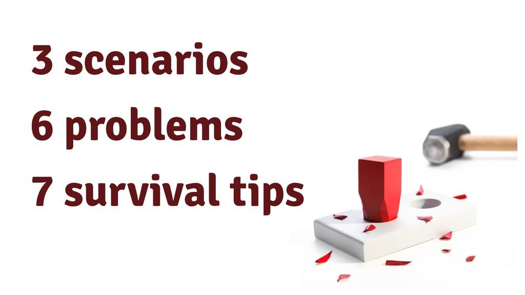 3 scenarios 6 problems 7 survival tips