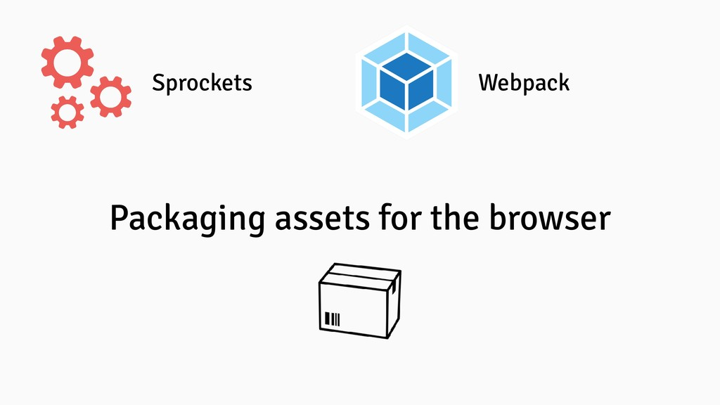 Sprockets Webpack Packaging assets for the brow...