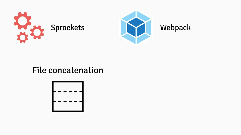Sprockets Webpack File concatenation