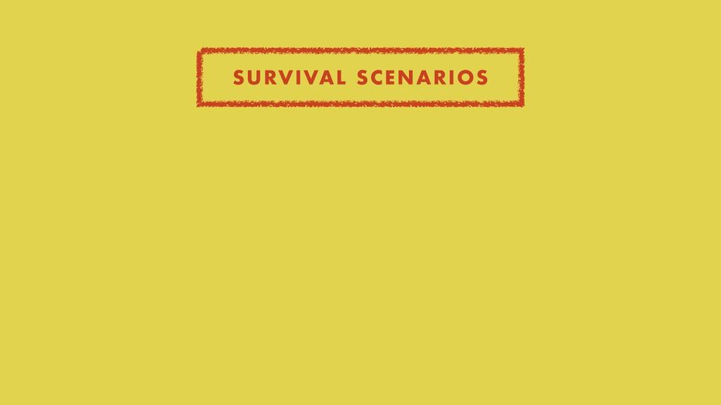SURVIVAL SCENARIOS