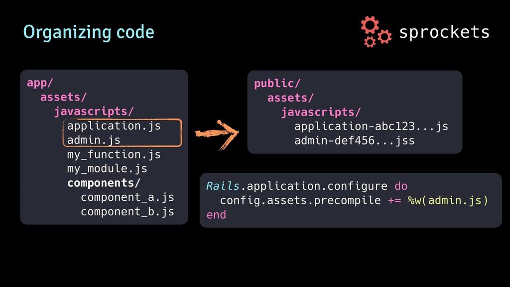 sprockets Organizing code app/ assets/ javascri...