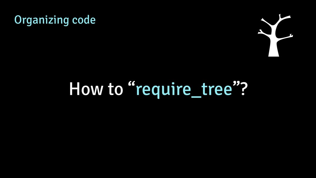 "Organizing code How to ""require_tree""?"