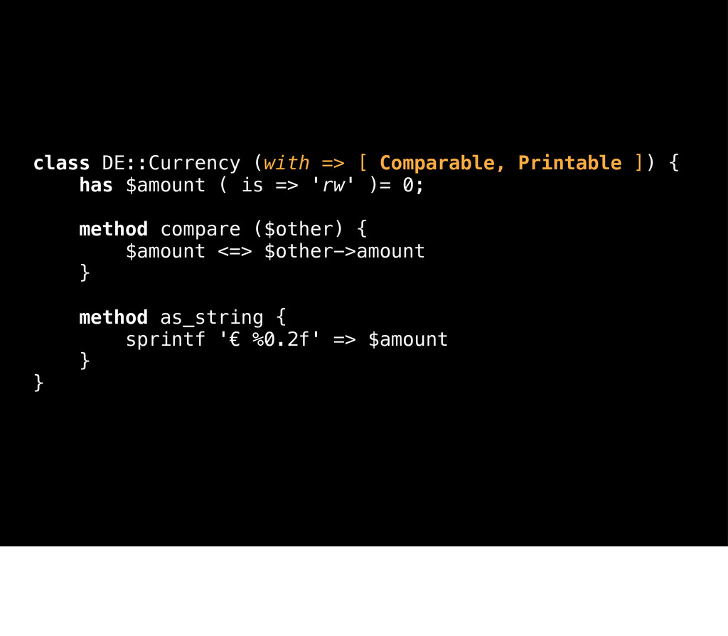 class DE::Currency (with => [ Comparable, Print...