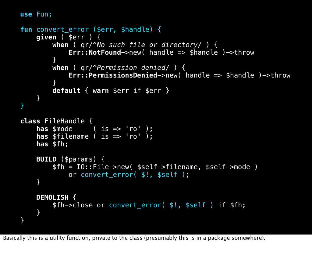 use Fun; fun convert_error ($err, $handle) { gi...