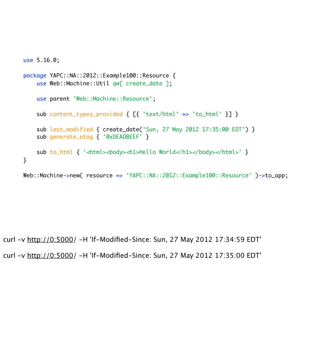 use 5.16.0; package YAPC::NA::2012::Example100:...