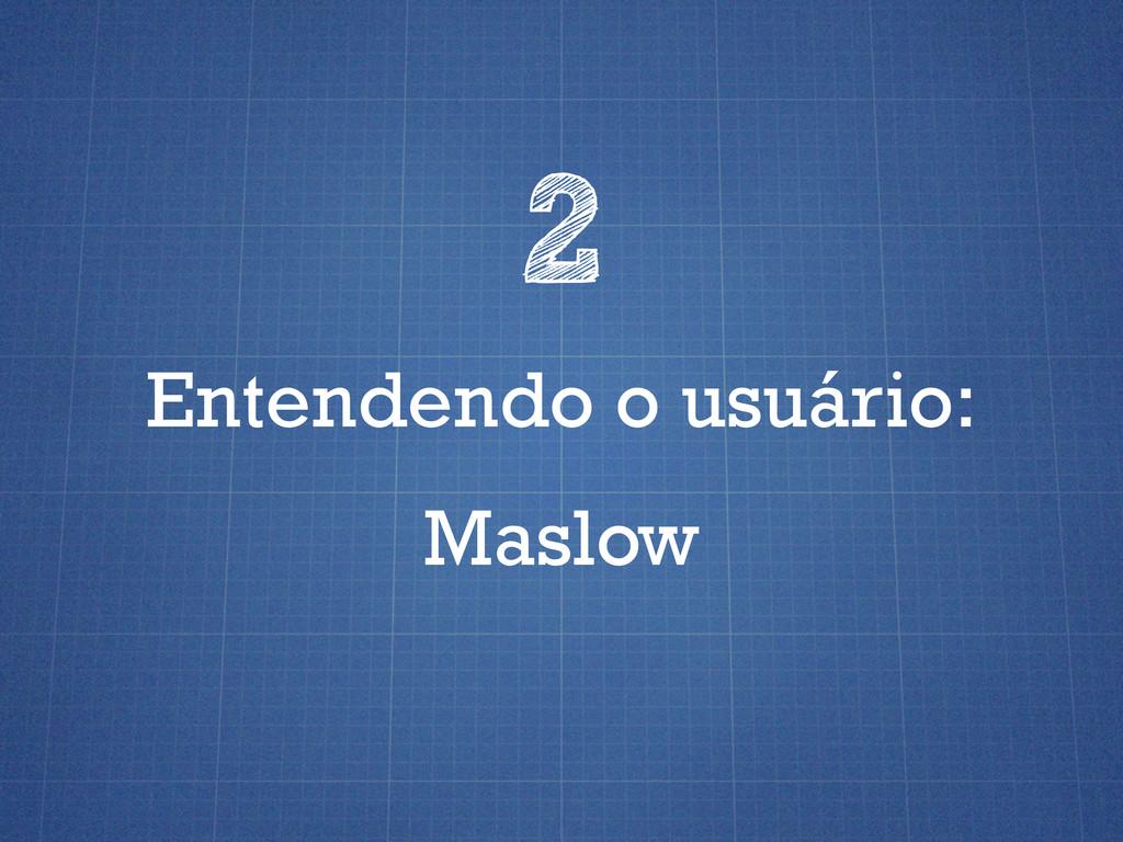 Entendendo o usuário: 2 Maslow