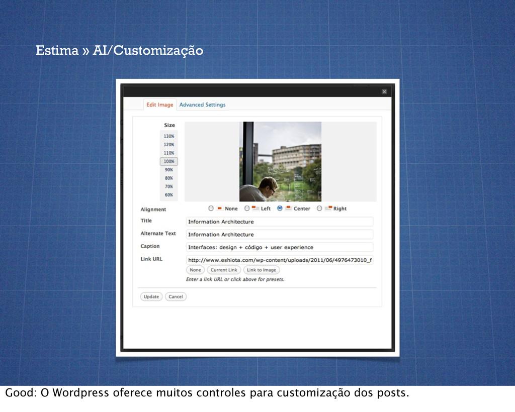 Estima » AI/Customização Good: O Wordpress ofer...